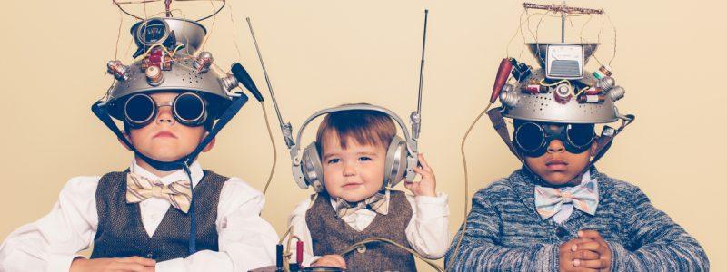 Digitalisierung & Instandhaltung. Praxislösungen und Ideen. Instandhaltungstage, dankl+partner, Wien Energie, Salzburg Research, Three Boys Dressed as Nerds with Mind Reading Helmets