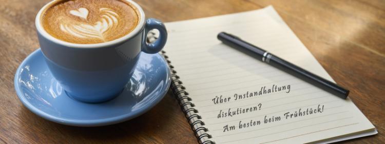 1. MFA Best Practice Frühstück, Kaffee, über Instandhaltung diskutieren