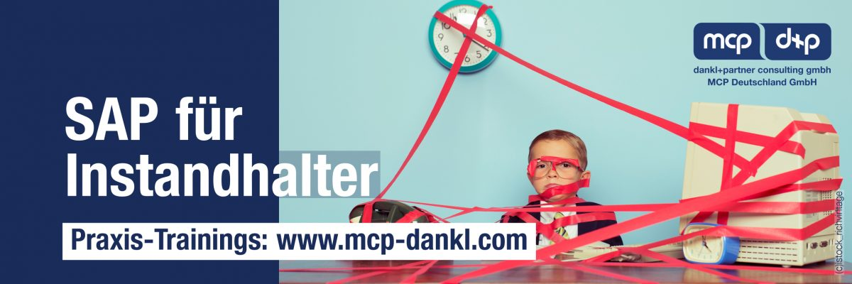 dpMCP_Banner_SAP Trainings_allgemein, Training, Workshop, SAP, PM, EAM, Mobile, Instandhaltung, dankl, MCP, Orianda, oxando