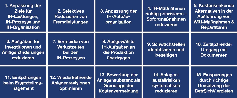 Maßnahmen-Katalog zum Thema Instandhaltungs-Kosten senken, dankl, MCP