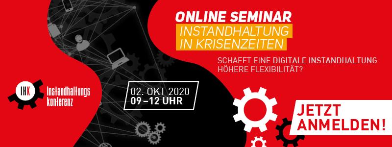 Instandhaltung in Krisenzeiten - Online Seminar, Instandhaltungskonferenz, FACTORY & MFA