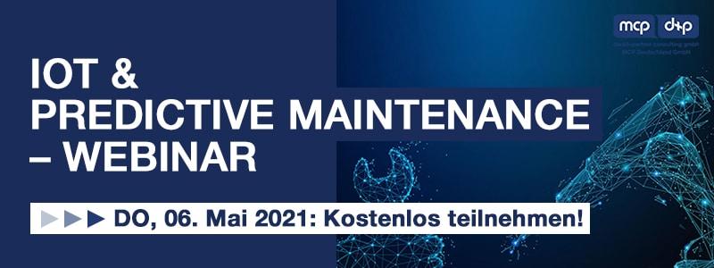 Webinar: IoT und Predictive Maintenance; dankl+partner consulting gmbh, Ingenics AG